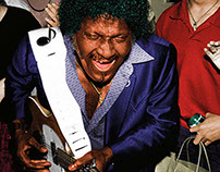 Albert Collins photo colorization