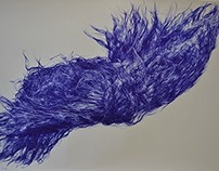 Blue Biro Hair Explosion