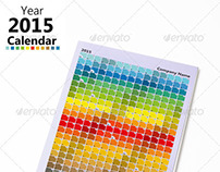 Color Spectrum Calendar 2015