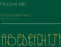 Nocive fonts experiment