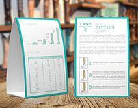 Lane Boot Fitting Guide Tent Card