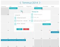Calendar Flat Design (PSD)