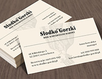 słodko gorzki | business card