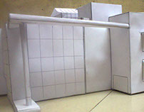 my office miniature made with paper
