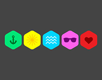 Experimental summer flat icons