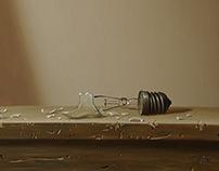 """""""Still-life with  broken light bulb"""""""