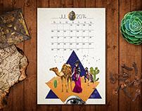 The traveller calendar