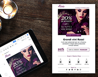 Newsletter Email Template for Vinitaly Wine Club.