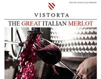 Newsletter Email Template for Cantine Vistorta