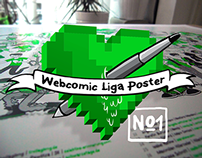 Webcomic Liga Plakat No. 1
