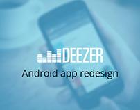Deezer, Android app redesign