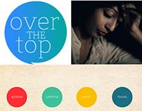 Over the Top - Branding + Wordpress Blog