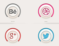 Free - Social Icons ( Semi-3D )