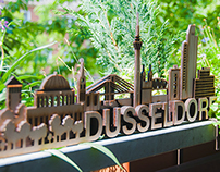 SKYLINE DÜSSELDORF (3D, wood)