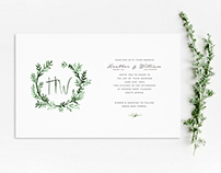 Into the woods wedding invite