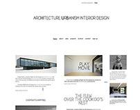 Architecture Urbanism interior design (web design)