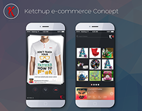 Ketchup e-commerce Concept
