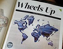 World illustration for Delta Sky Magazine