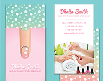 Nail artmanicure business card with sleeve on behance colourmoves