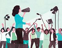Variety -Editorial illustration -Feminism in Hollywood