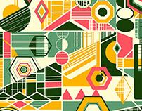 Geometric Designs (iPad + Adobe Line, Ink & Slide)