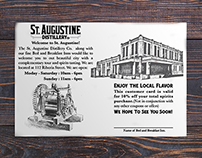 St. Augustine Distillery bed and breakfast offer card