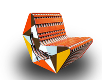 Cardboard: Red-Tail Chair