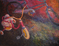"""Bike Race"" Oil on Canvas, 2005"