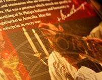 Brisbane Oratory Vallicella Dinner Folder