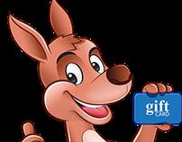Logo + Mascot Card Kangaroo