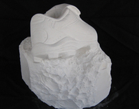 """Cleats"", Plaster of Paris, 2005"