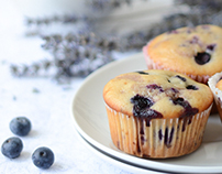 Food photography/Blueberry muffins