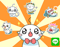 LINE Stichers: Kitty