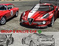 Alfa Romeo 4C GroupB - WRC rallye car concept