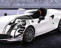 Alfa Romeo 4C Barchetta Monza.
