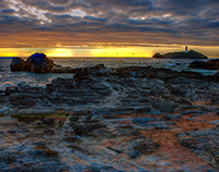 Godrevy Lighthouse @ Sun Rise