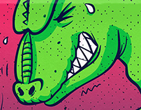 Fartzilla (is available at Threadless & Society6 now!)