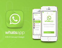 Whatsapp Redesign for iOS 8