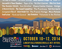 Fall For Greenville 2014 Music Poster