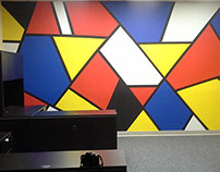 Blue Print RF mural