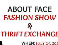 About Face Fashion Show Flyer