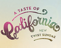 Baskin Robbins - A Taste of California Campaign
