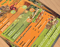 Menu and Brochure for Store Food Delivery