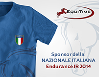 Equitime - T-shirt Nazionale Italiana Junior Endurance