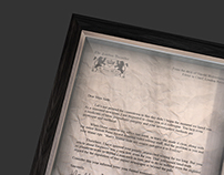 Framed Termination Letter