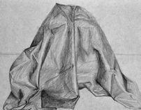 Folded cloth texture study