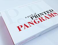 A Peck of Printed Pangrams
