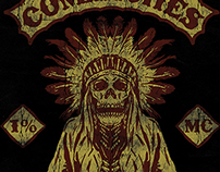 COMANCHES - OIL AND INK PRINT EXPO