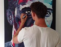Painting Lewis Hamilton