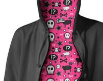 Seamless Textile Pattern - Rocker Girl Hoodie